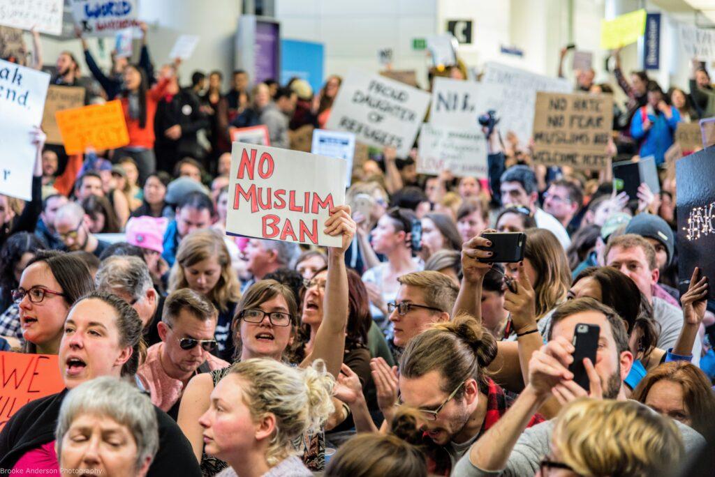 No Muslim Ban Mass Mobilization Protest